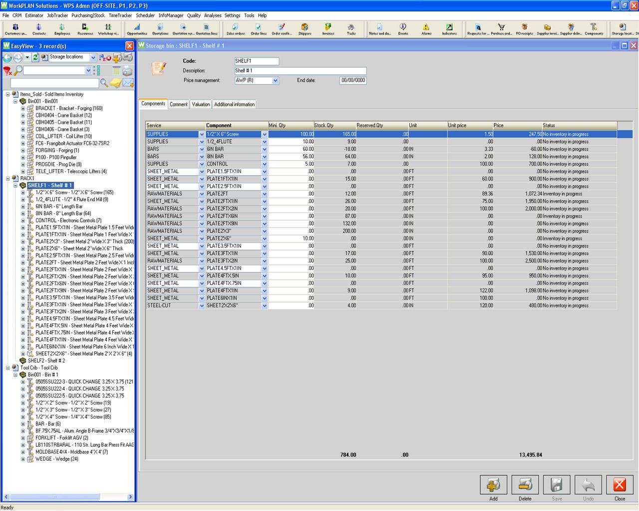 WorkPLAN | Stock Management