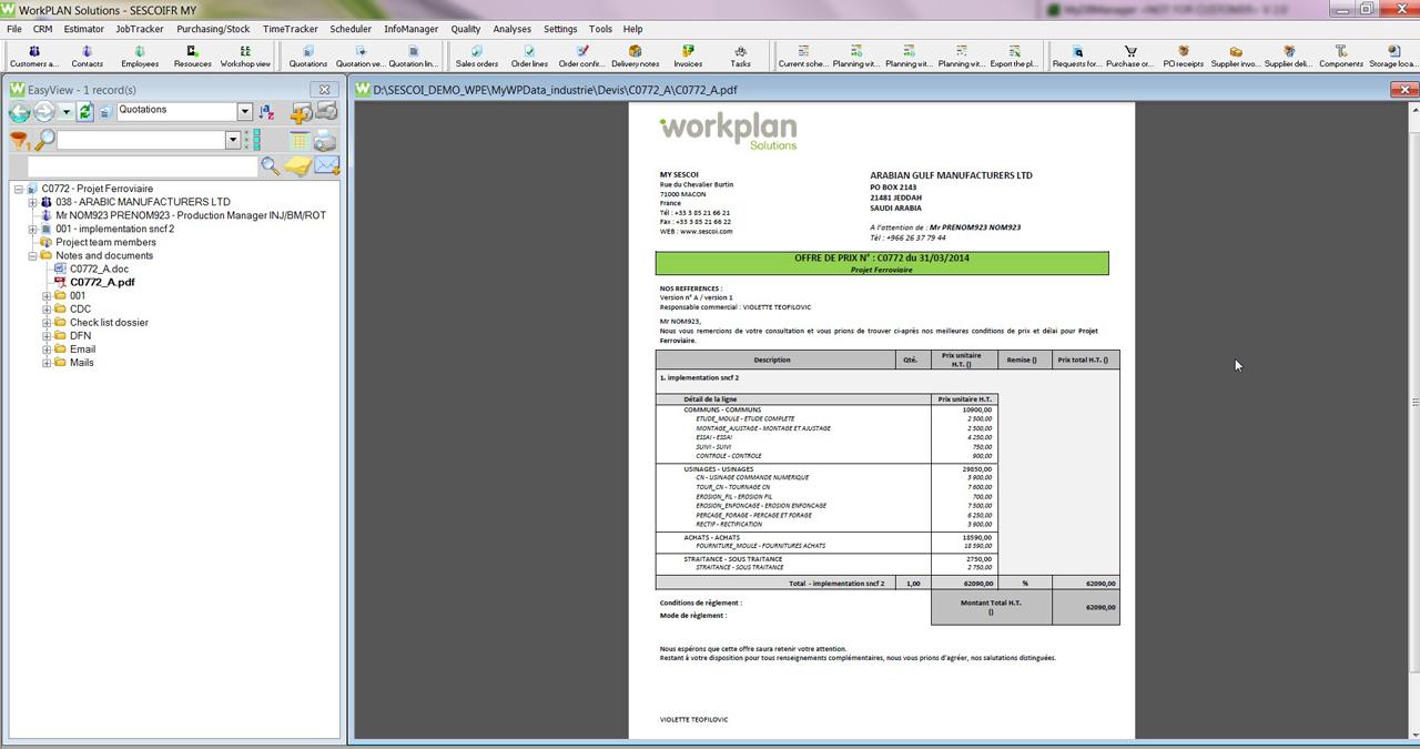 WorkPlan | Quotations